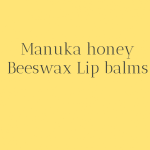 Manuka Honey Beeswax lip balms